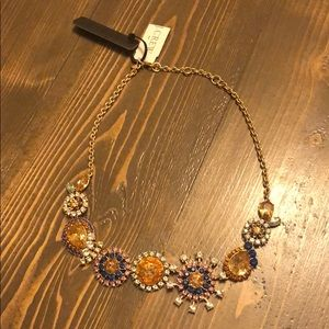 J. Crew Crystal burst statement necklace